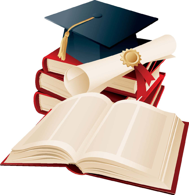 Picture of a mortarboard, degree certificate and books (Edinburgh Maths Tuition)